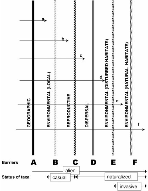 invasive-alien-species-exotic-introduction-pathways-ecosystems-geographical-environmental-biotic-abiotic-barriers-10-Rule
