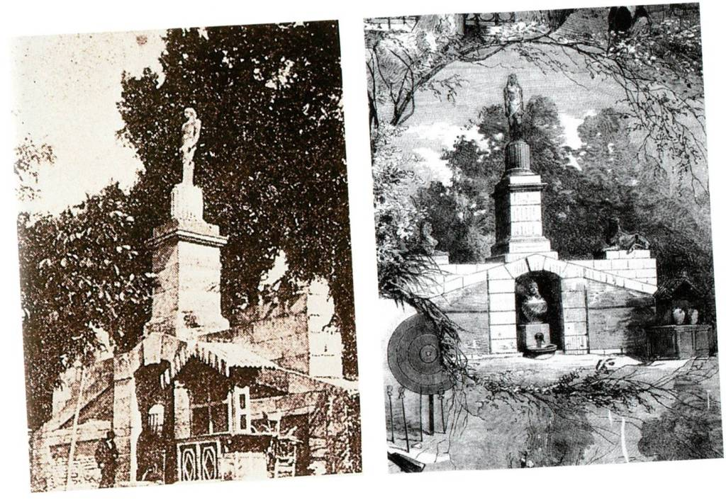 fountain-pot bellied-woman-canopy-jar-egyptian-gods-sphinx-osiris-monument-madrid-gardens-buen-retiro-park-history