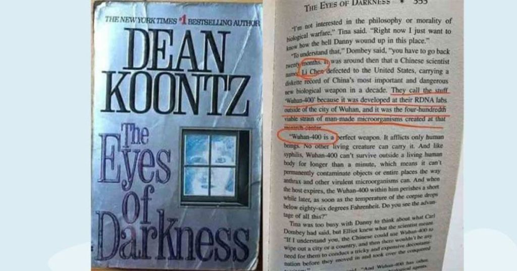 eyes-of-darkness-prophecy-dean-koontz-novel-40-years-facebook-wuhan-400-pandemic-hiding-information-conspiracies-conspiracy-theory-li-wenglian-covid-2020-virus