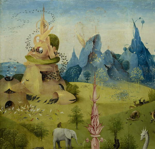 garden of the earthly delights-tryptich-painting-paradise-Adam and Eve-hieronymus bosch-jheronimus bosch