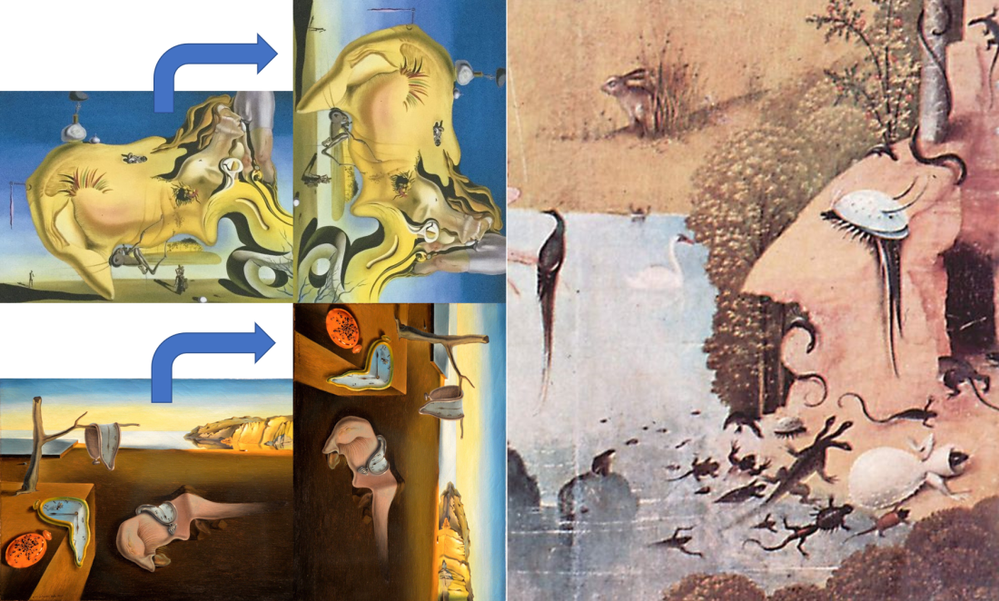 salvador dali-surrealism-the great masturbator-garden of the earthly delights-bosh-the persistence of memory