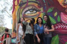Visita ao encontro Midialivrismo ao Extremo, na Ilha do Bororé, pelos participantes do curso Repórter da Quebrada, no Extremo Sul