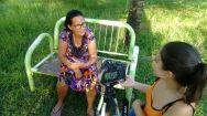 """Dona Zuleide, uma das entrevistadas do projeto """"Saberes da Natureza"""", em escambo periférico no Recife (Foto: Periferia em movimento)"""