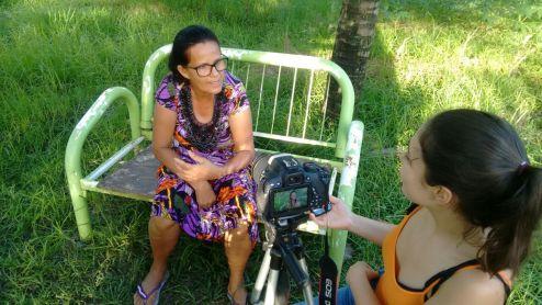 Dona Zuleide, uma das entrevistadas do projeto no Recife (Foto: Periferia em movimento)