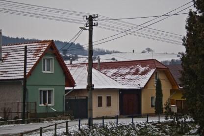 Unimo nad Dúbravicou v zime