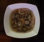 l'assiette de soupe de fèves