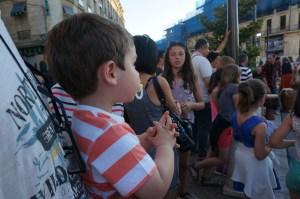 Très jeune et déjà fan de la fête de la musique