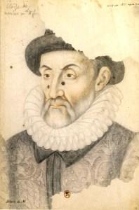 Blaise de Monluc, portrait dessiné du xvie siècle, collection privée.