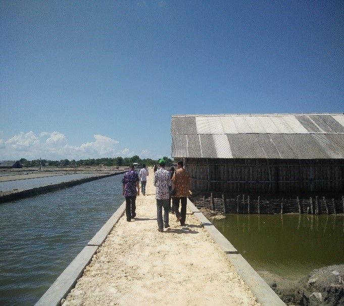 Pembangunan Jalan Produksi Garam Membangkitkan Senyuman Petambak Garam 2017