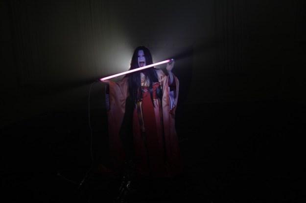 Image: Eugenia Lim. Nest (2011), single-channel HD video, 10 min 25 sec, featuring Yumi Umiumare.