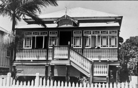 Twice a year we'd come down to Cairns to visit my mother's eldest sister, Aunt Bessie. Her house was always family headquarters. In the living room was a piano, embroidered Chinese art works, a large cut and frosted glass mirror depicting a pond scene, and a grandfather clock, ticking loudly. Yet the house had a solemn atmosphere as Bessie was often sick.