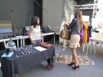 Divya Rao at MSFW Emerging Designers market. Photo - Danni Roberts