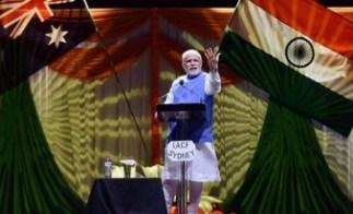 Narendra Modi at Sydney's Allphones Arena
