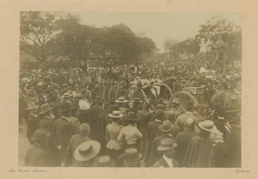 Ralph Cummings funeral procession, The Crown Studios 1901. (www.slv.org.au)