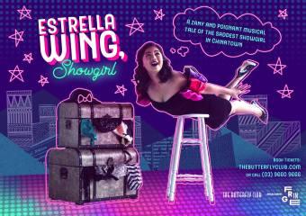 Melbourne Fringe Festival, Estrella Wing, Showgirl Poster
