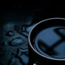 dramatic stock photo of a teacup