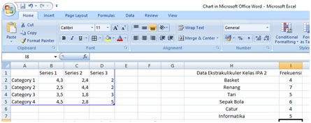 Chart in Microsoft Office