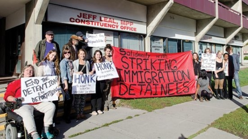 Protest at Central East Correctional Centre, Ontario