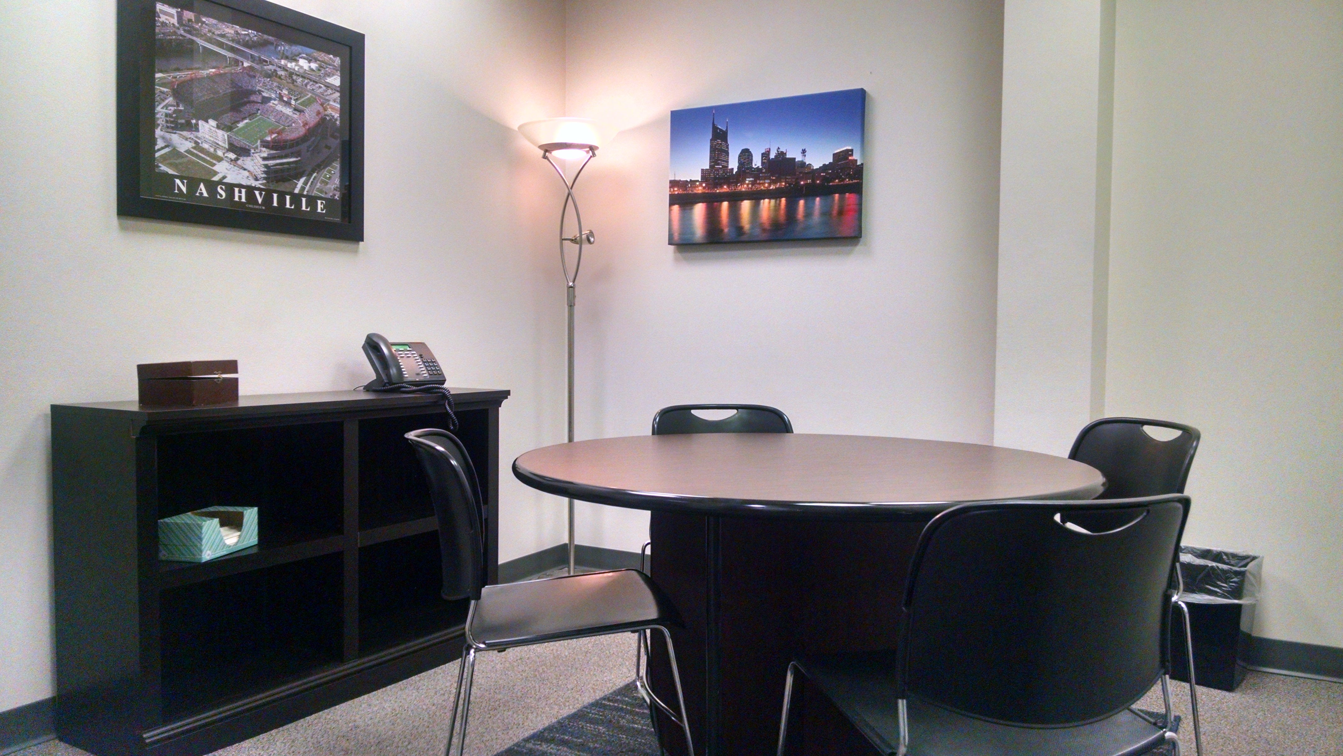 Before: General Manager's Office set up as a meeting room