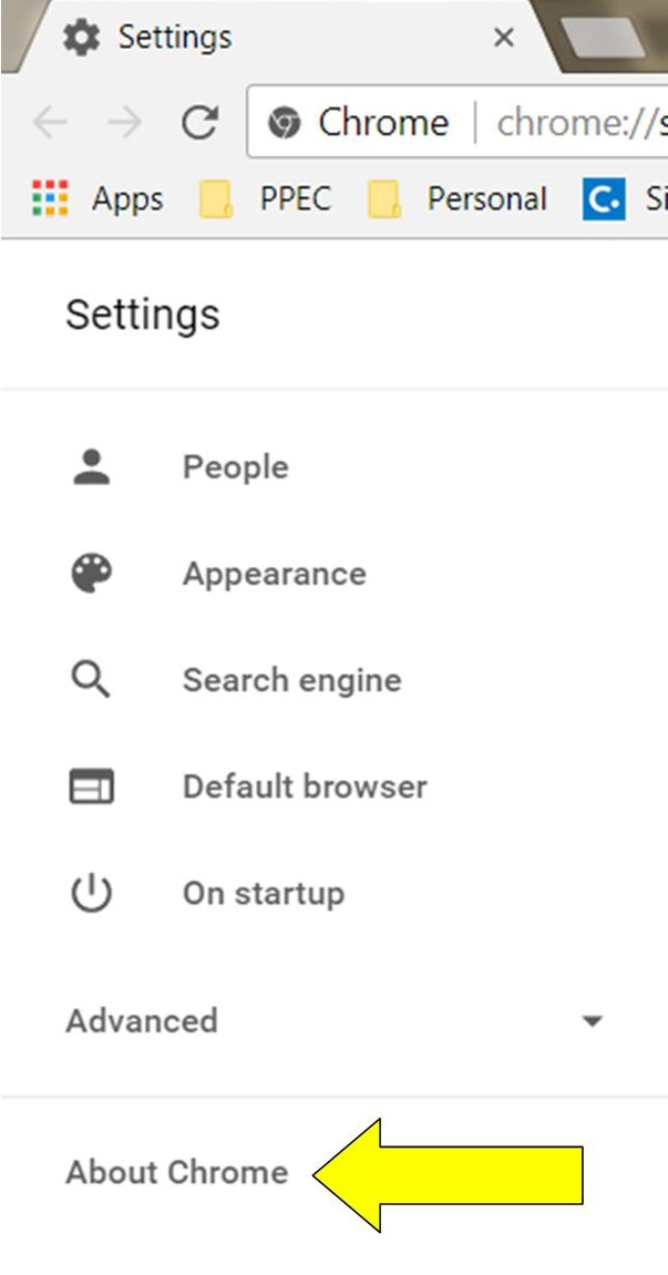 How to update google chrome step 4 flexible offices perimeter click on about chrome at the bottom should automatically start checking for and how to update google ccuart Gallery