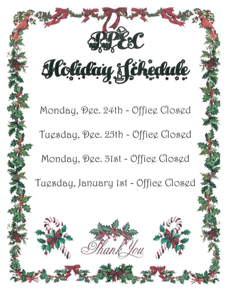 Perimeter Park Executive Center 2018 Holiday Closing Schedule