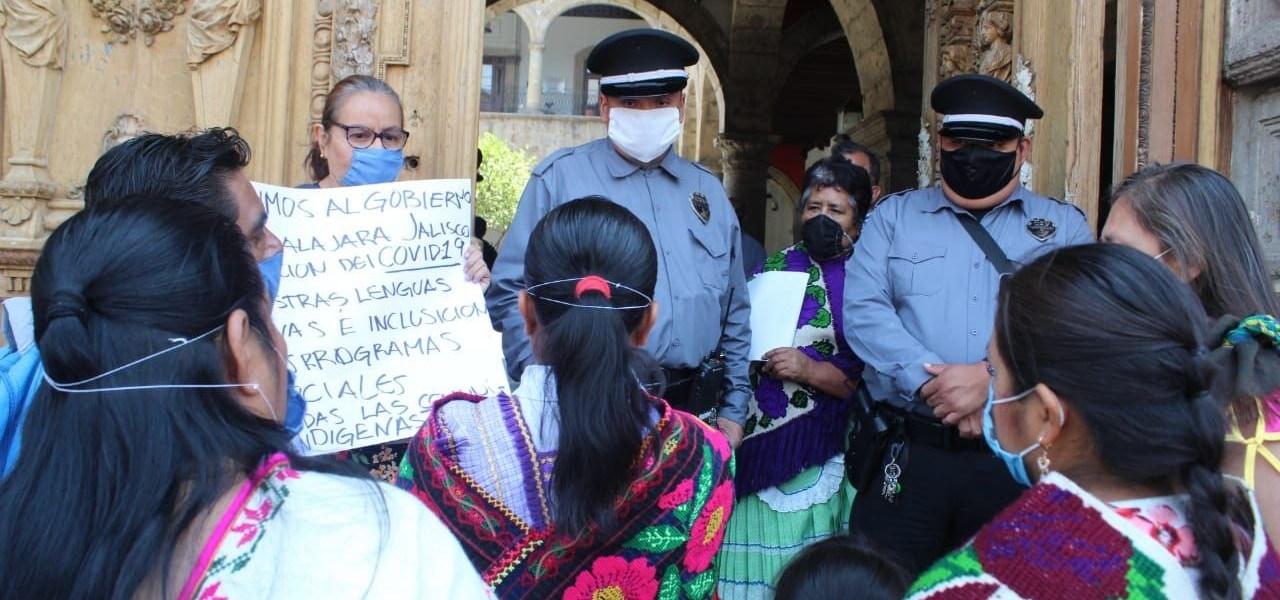 Protesta de mujeres migrantes