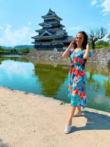 Valery Danko at Matsumoto Castle