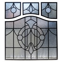 1930s Art Deco Stained Glass Panels - From Period Home Style