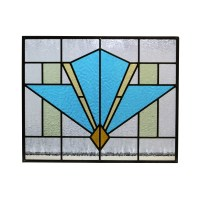 Art Deco Style Stained Glass Panel - From Period Home Style