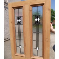 4 Panel Art Deco Stained Glass Door - Period Home Style