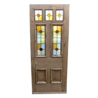 7 Panelled Stained Glass Door