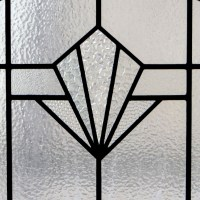 Plain Art Deco Stained Glass Panel - From Period Home Style