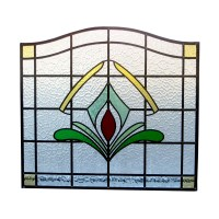 Art Deco 1930s Stained Glass Panel - From Period Home Style