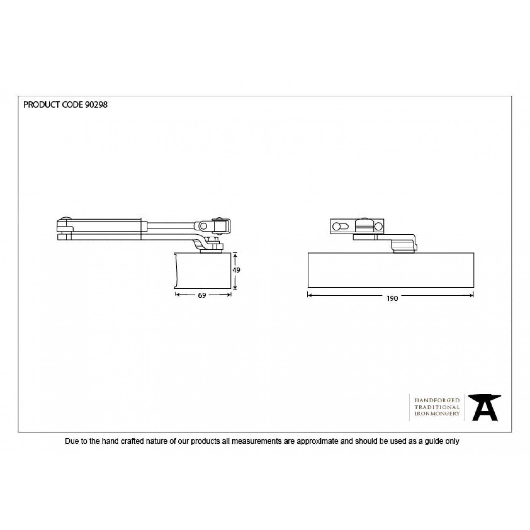 hight resolution of black door closer cover size