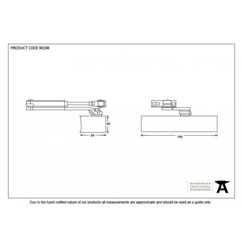 small resolution of black door closer cover size