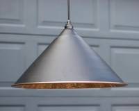 Black Hockley Pendant Light With Hammered Copper - Period ...