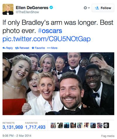 The Oscar Selfie Tweet