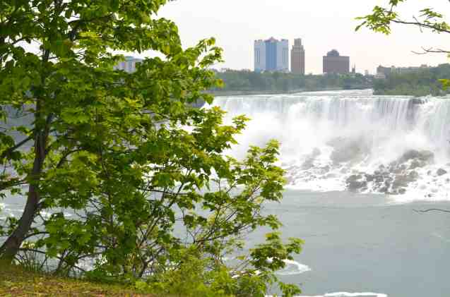 Niagara Falls with New York in the background