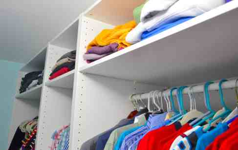 top shelf storage in closet