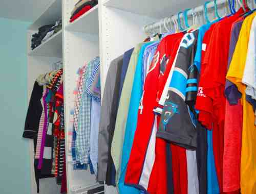 overall view of finished closet