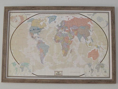 DIY Travel Decor with this travel map