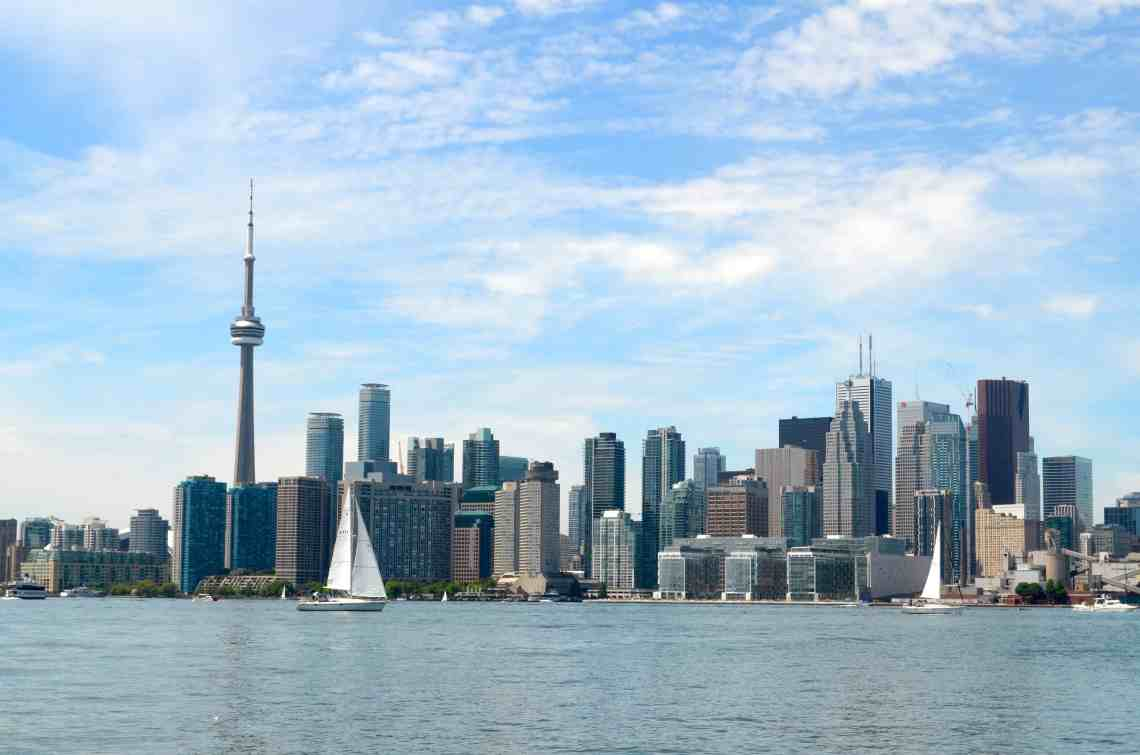 Toronto Skyline with sailboat