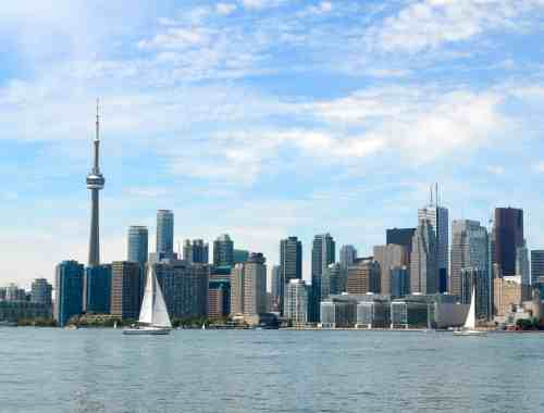Toronto Skyline with sailboat