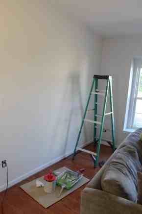 preparing to paint wall
