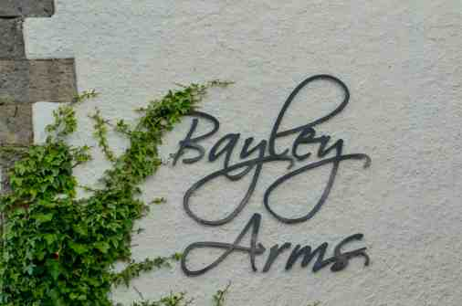 sign at Bayley Arms