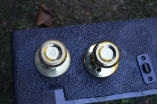 sanded contractor brass knobs