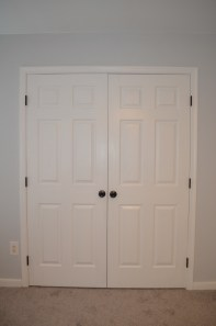 closet with painted hinges