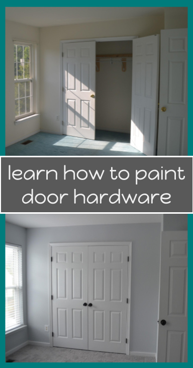 Painting your door hardware can help you update your house on a budget. This post includes a few tips and tricks for how to get the best results. #hardwareupdate #easyhomeupdate