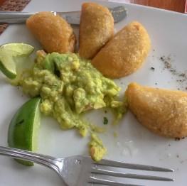 Empanadas and guacamole