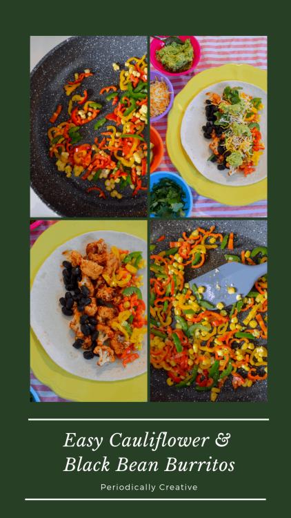 Easy Cauliflower & Black Bean Burritos